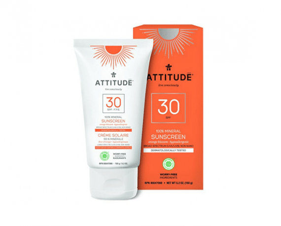 Attitude zonnebrand orange blossom 150ml zonnebrandcrème spf30