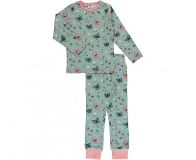 maxomorra pyjama slim fit butterfly GOTS