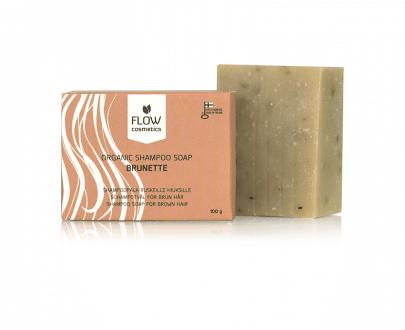 Flow Cosmetics Shampoo Bar Brunette natuurlijk biologisch 100gr gerecycled karton