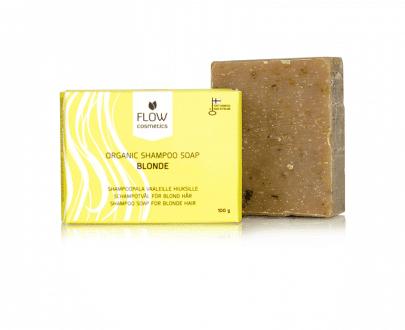 Flow Cosmetics Shampoo Bar Blond 100gr natuurlijk biologisch gerecycled karton