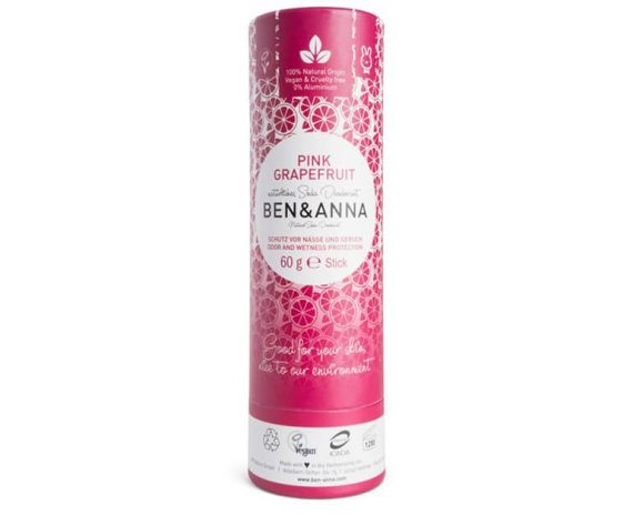Ben & Anna Deodorant Pink Grapefruit Push Up Stick