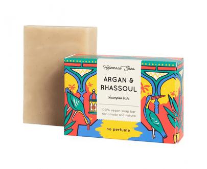 Helemaal Shea Argan & Rhassoul shampoo bar biologisch vegan zero waste 110 gram