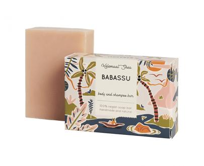 Helemaal Shea Babassu zeep haar&body biologisch vegan 110gr zero waste