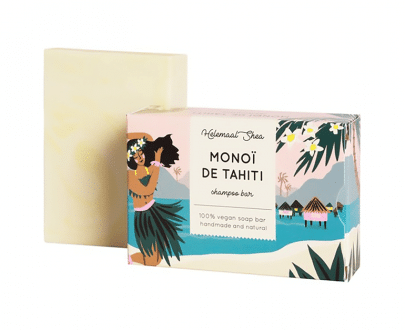 Helemaal Shea Manoï de Tahiti shampoo bar 110 gr biologisch vegan zero waste