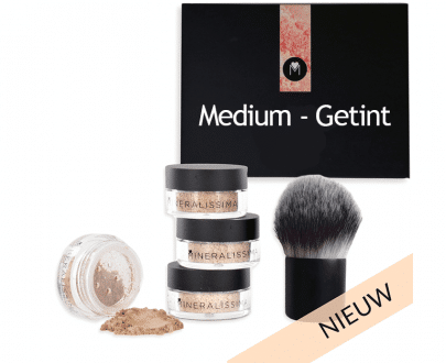 Foundation set medium-getint vegan cruelty free minerale make-up