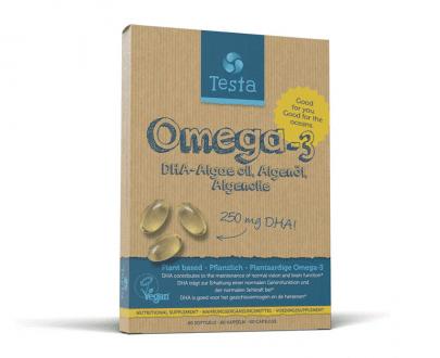 Testa Omega 3 algenolie vegan DHA