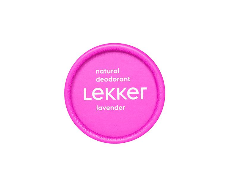 The Lekker Company lavendel deodorant vegan cruelty free zero waste
