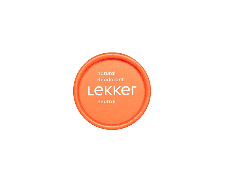 The Lekker Company neutraal deodorant vegan zero waste