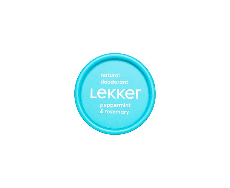The Lekker Company pepermunt rozemarijn deodorant vegan zero waste