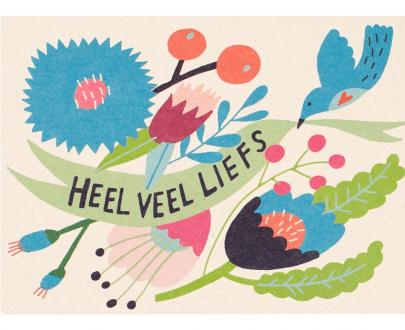 Zintenz kaart heel veel liefs wenskaart postcard