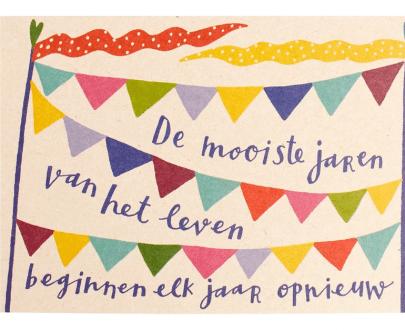 Zintenz kaart verjaardag wenskaart postcard